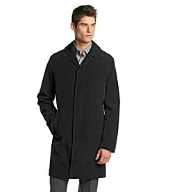 Calvin Klein Men's Black Park Bonded Fly Raincoat