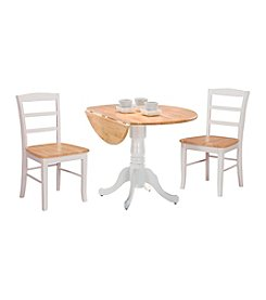 International Concepts 3-pc. Dual Drop Leaf Dining Set