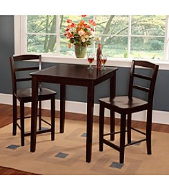 International Concepts 3-pc. Rich Mocha Counter Height Dining Set