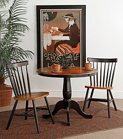 International Concepts 3-pc. Round Pedestal Dining Collection