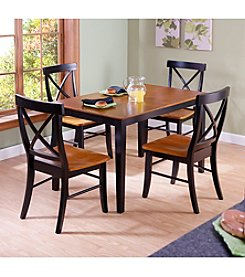 International Concepts 5-pc. Black & Cherry Dining Set
