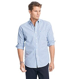 Izod® Men's Long Sleeve Tattersall Check Button-Down Shirt