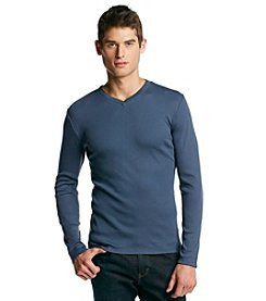 Calvin Klein Men's Long Sleeve Ribbed Knit Shirt