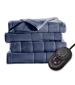 SlumberRest Fleece Quilted Heated Blanket