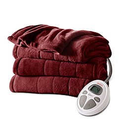 SlumberRest MicroPlush Quilted Heated Blanket