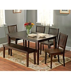 Target Marketing Systems 6-pc. Shaker Dining Set with Bench