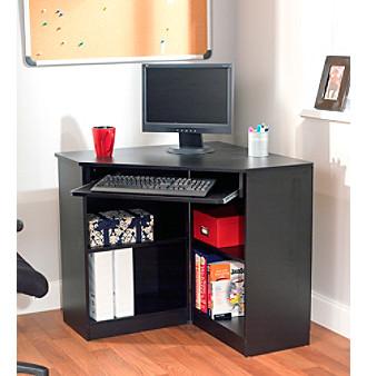 Target Marketing Systems Oxford Black Corner Desk Bon Ton