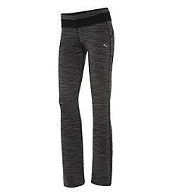 PUMA® Black Heather Drawstring Pants