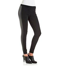 Vince Camuto® Faux Leather Trim Legging