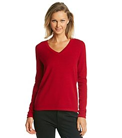 Olivia & Grace® V-Neck Cashmere Sweater