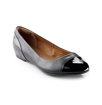 "Clarks® ""Valley Moon"" Casual Cap-toe Shoe - Black"
