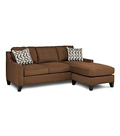 HM Richards Espresso Townhouse Sofa Chaise Sleeper