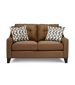 HM Richards Espresso Townhouse Loveseat