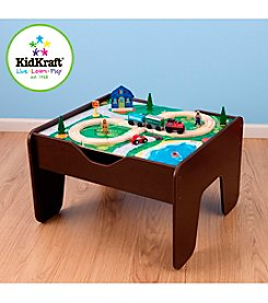 KidKraft 2-in-1 Activity Table with Board - Espresso