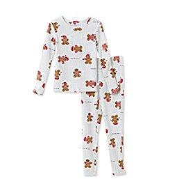 KN Karen Neuburger Kid's Knit Pajama Set - Gingerbread Man Print