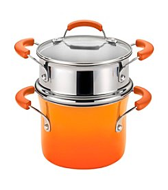 Rachael Ray® 3-qt. Orange Gradient Hard Enamel Nonstick Covered Steamer Set
