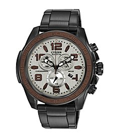 Citizen® Eco-Drive Men's Stainless Steel Brown & Gray WDR 4.0 Chronograph Watch