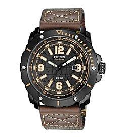 Citizen® Eco-Drive Men's Black & Brown WDR 4.0 Chronograph Watch