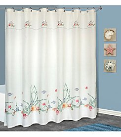 United Curtain Co. Seashell Shower Curtain
