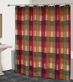 United Curtain Co. Plaid Shower Curtain