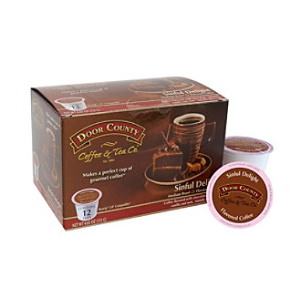 Door County Coffee & Tea Co. Sinful Delight Flavored Coffee 12-ct. Single Serve Cups