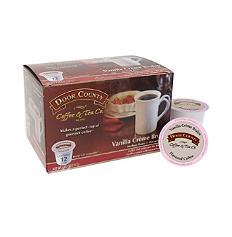 Door County Coffee & Tea Co. Vanilla Creme Brulee Flavored Coffee 12-ct. Single Serve Cups
