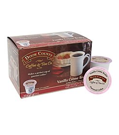 Door County Coffee & Tea Co. Vanilla Creme Brulee Flavored Coffee 12-pk. Single Serve Cups