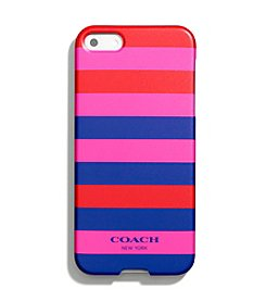COACH IPHONE 5 CASE IN MULTICOLOR STRIPE