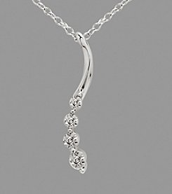 Sterling Silver Swirl Journey .03 ct. t.w. Diamond Pendant