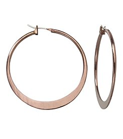 Relativity® Chocolate Hoop Earrings
