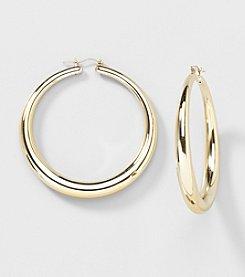 Relativity® Goldtone Large Hoop Earrings