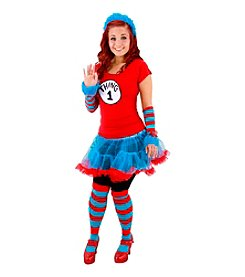 Cat In The Hat Thing 1 or Thing 2 Tutu Adult Costume