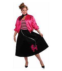 Poodle Skirt Adult Dress Costume Set