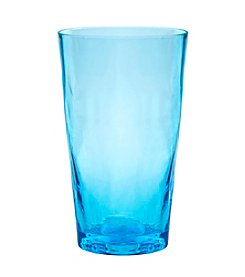 Artland® Ripple Turquoise Set of 4  Highball Glasses