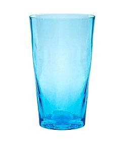 Artland® Ripple Turquoise Set of 4  Highball Glasses