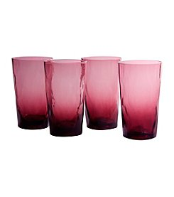 Artland® Ripple Plum Set of 4 Highball Glasses