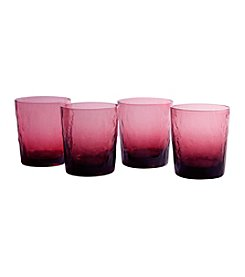 Artland® Ripple  Plum Set of 4 Double Old Fashioned Glasses