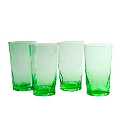 Artland® Ripple Green Set of 4 Highball Glasses