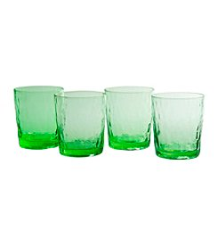 Artland® Ripple  Green Set of 4 Double Old Fashioned Glasses