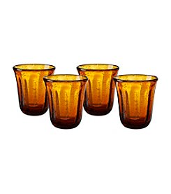 Artland® Savannah Amber Set of 4 Double Old Fashioned Glasses