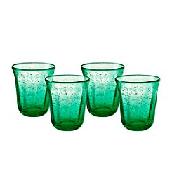 Artland® Savannah Green Set of 4 Double Old Fashioned Glasses