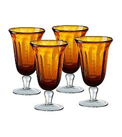 Artland® Savannah Amber Set of 4 Goblets