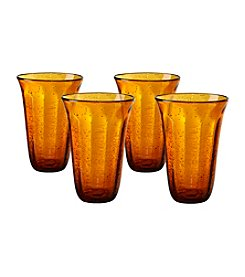 Artland® Savannah Amber Set of 4  Tumblers