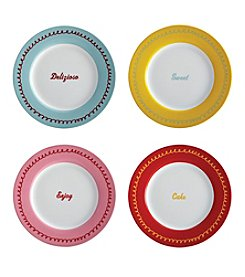 Cake Boss® Icing 4-pc. Dessert Plate Set