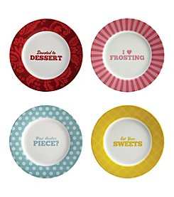 Cake Boss® Basic 4-pc. Dessert Plate Set