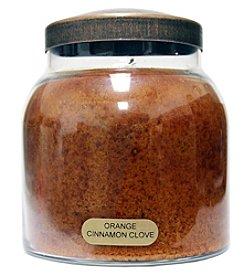 A Cheerful Giver Orange Cinnamon Clove Glass Jar Candles