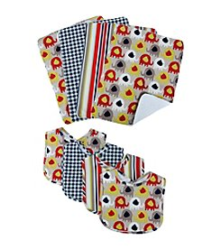 Trend Lab 8-pk. Elephant Parade Bib and Burp Cloth Set