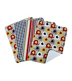 Trend Lab 4-pk. Elephant Parade Burp Cloths