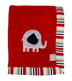 Trend Lab Red Framed Elephant Parade Receiving Blanket