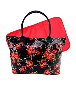 Trend Lab Garden Rose Floral Mod Carryall Tote